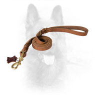 Braided Latigo Leather Police Dog Lead