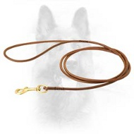 Handcrafted Round Leather Dog Leash For Dog Shows