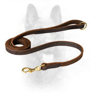 K9 Leather Dog Leash with Short Stitching