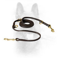 Multimode K9 Round Leather Leash for Various Activities