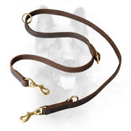 K9 Leather Dog Lead for Walking and Training