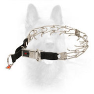Reliable K9 Pinch Collar with Lock Buckle - 3.2 mm (1/8 inch) prong diameter