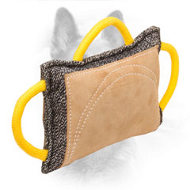 Jute Dog Bite Pad with Leather Cover