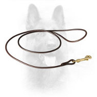 K9 Show Leather Dog Leash