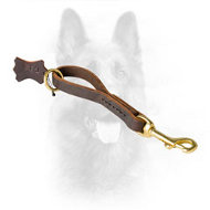 K9 Leather Grab Pull Tab Dog Leash