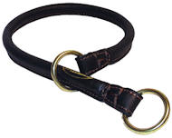 Great Rolled Leather Dog Collar/Choke Collar for Canine Dog -K9 Dogs