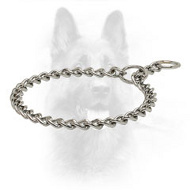 Reliable Chrome Plated K9 Choke Collar - 1/9 inch (3.0 mm) link diameter