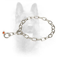Multimode Stainless Steel Fur Saver K9 Collar - 1/9 inch (3.0 mm) link diameter