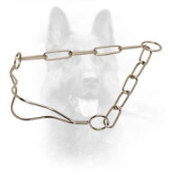 Chrome Plated K9 Fur Saver Collar for Dog Shows