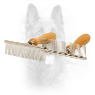 ''Hair Designer'' Chrome-plated Comb for Dog Coat Grooming