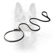 K9 Leather Dog Leash Combined with Choke Collar