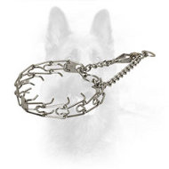 Chrome Plated Steel K9 Pinch Collar with Prongs - 3.0 mm (1/9 inch) prong diameter