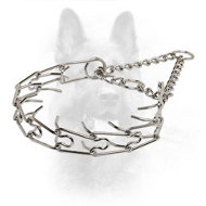 'Calm Down Effect' Dog Pinch Collar - 1/8 inch (3.2 mm) prong diameter