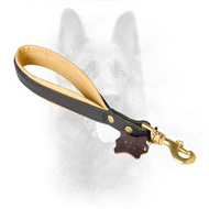 Nappa Padded Short Leather Dog Lead For Canine