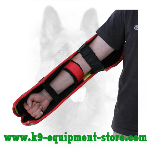 Canine Jute Bite Sleeve with Velcro Strap Fixator