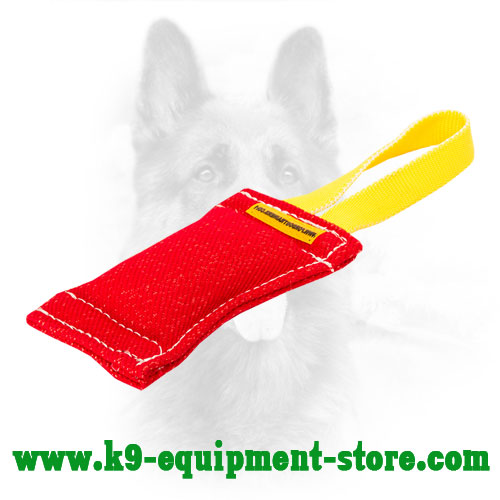 French Linen Dog Bite Tug with Nylon Handle