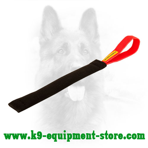 French Linen Canine Bite Tug with 1 Handle