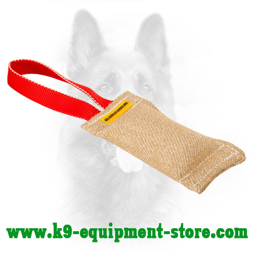 Canine Bite Tug Made of Jute with Handle