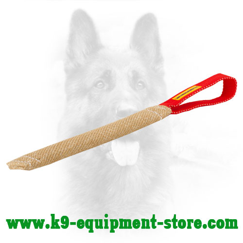 Jute Puppy Bite Tug with Comfortable Handle