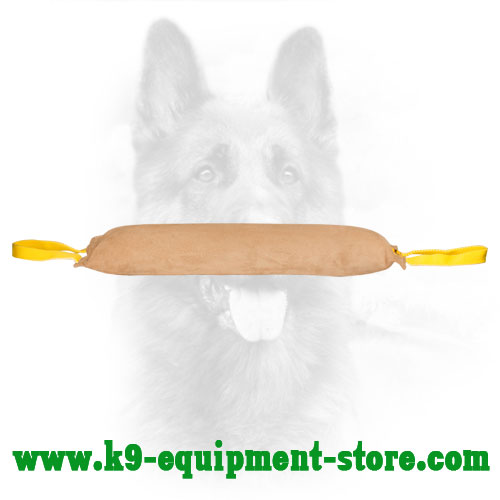 K9 Leather Bite Tug with Soft Filling