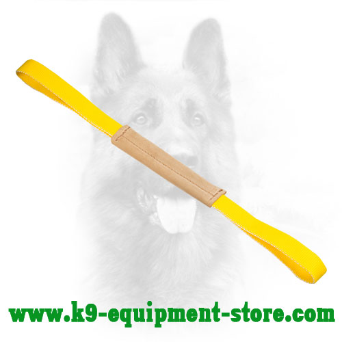 Leather K9 Bite Tug for Training and Playing