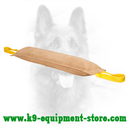 K9 Leather Bite Tug with Two Handles