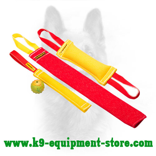 French Linen Canine Bite Tug Set for Training