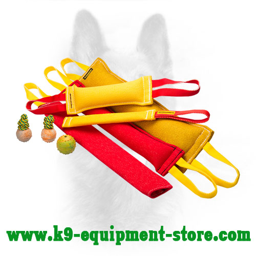 French Linen Dog Bite Tug Set for K9 Training