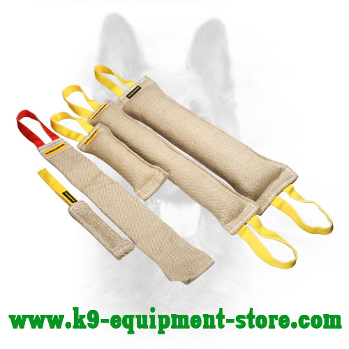 Jute Canine Bite Tug Set Best Gift for Dog Owners