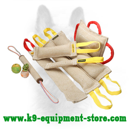 Canine Jute Training Set with Bite Tugs Bonus Toys and Roll