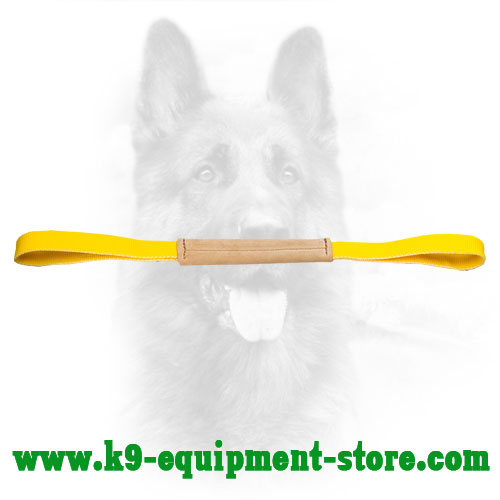 K9 Bite Tug Made of Leather with 2 Handles