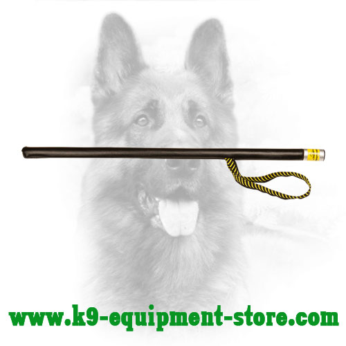 Durable Canine Leather Dog Training Stick with Loop
