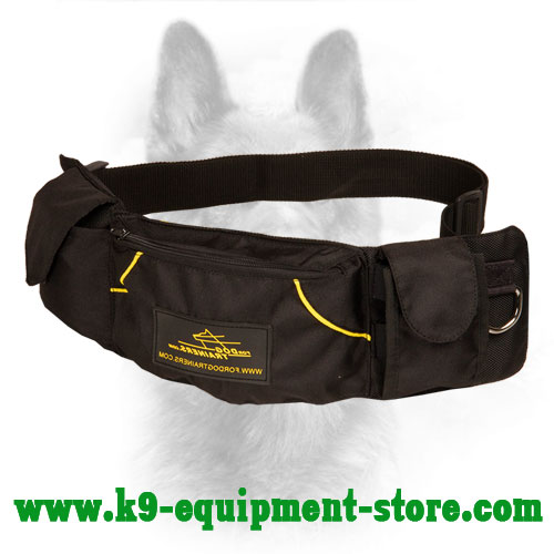 Nylon K9 Treat Pouch Equipped with Adjustable Belt