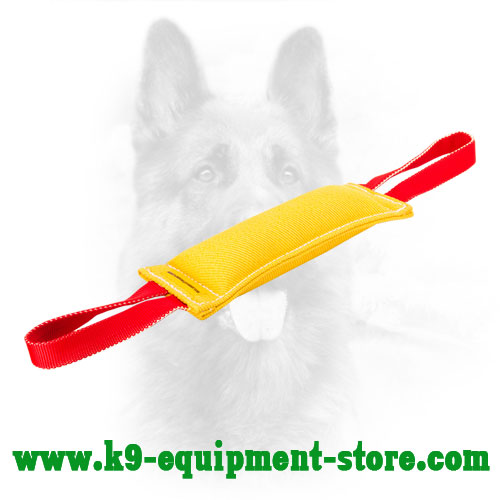 French Linen K9 Bite Tug with 2 Strong Handles