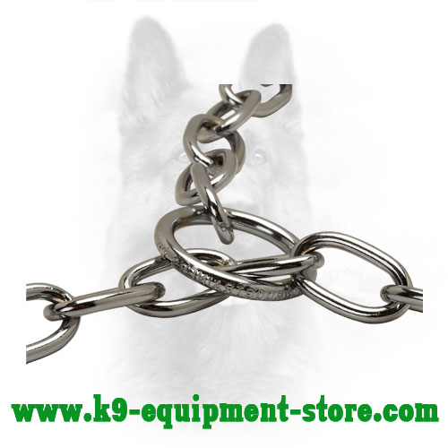 Steel Attachment Rings of Dog Choke Collar