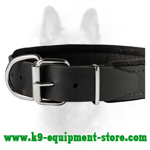 Handmade Leather Dog Collar Is Made Of Natural Leather