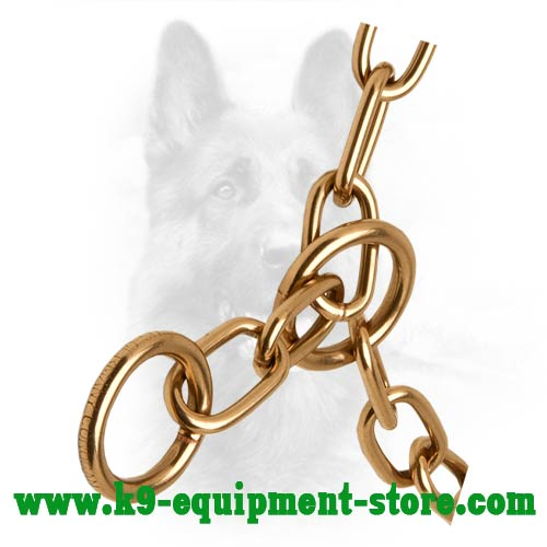 Canine Fur Saver Chain with Smooth Curogan Links