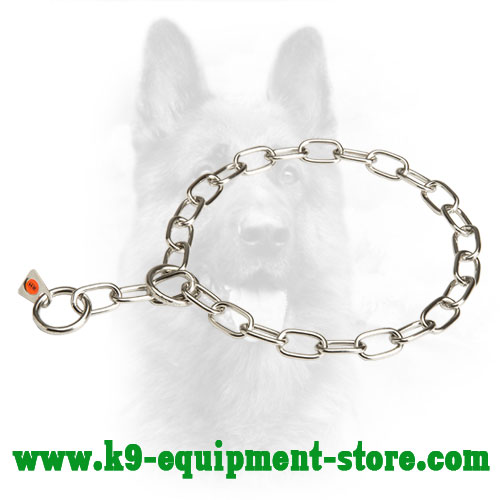Police Dog Fur Saver Collar Made of Stainless Steel
