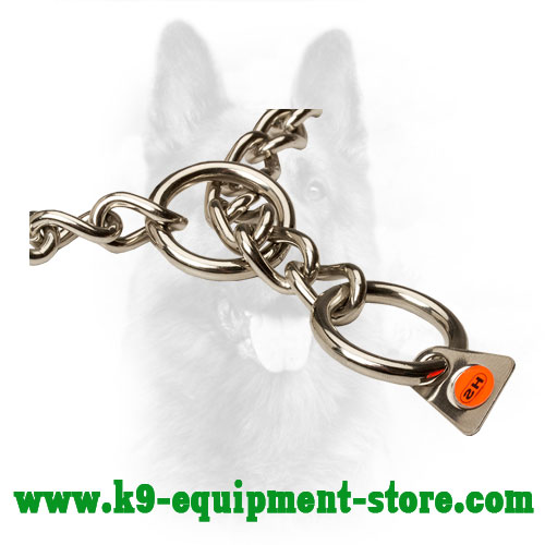 Quality Tag of Stainless Steel Canine Fur Saver Collar