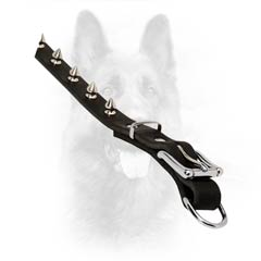Fully Safe Non-Toxic Leather Collar For Police Dogs