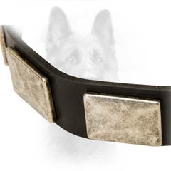 Antiqued Dog Collar Is Very Soft To The Touch