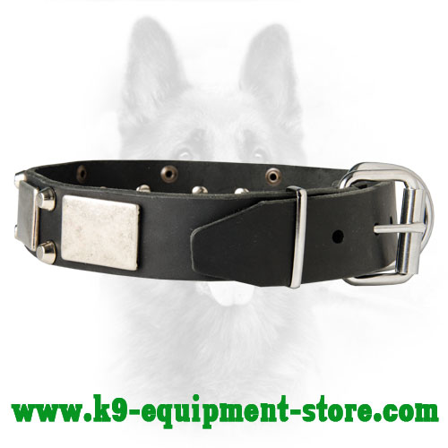 Nickel Plates and Studs Serve for Collar Decoration