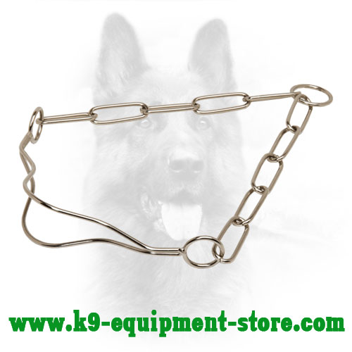 Canine Fur Saver Collar Made of Chrome Plated Steel