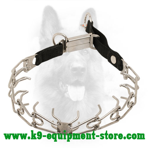 Canine Pinch Collar Made of Rustproof Stainless Steel