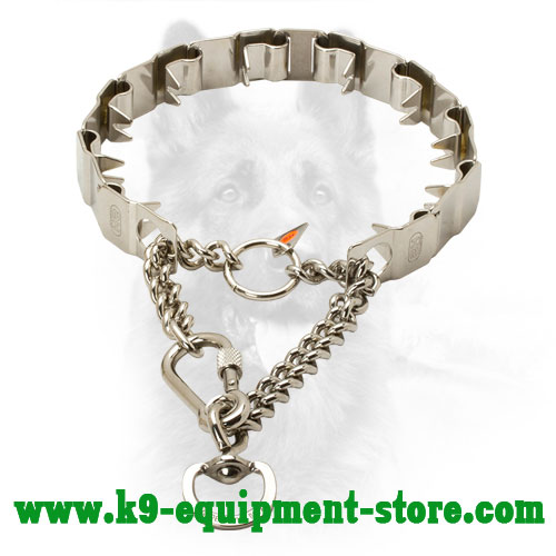 Canine Stainless Steel Prong Collar for Behavior Correction