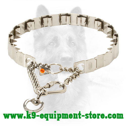 Canine Stainless Steel Neck Tech Prong Collar