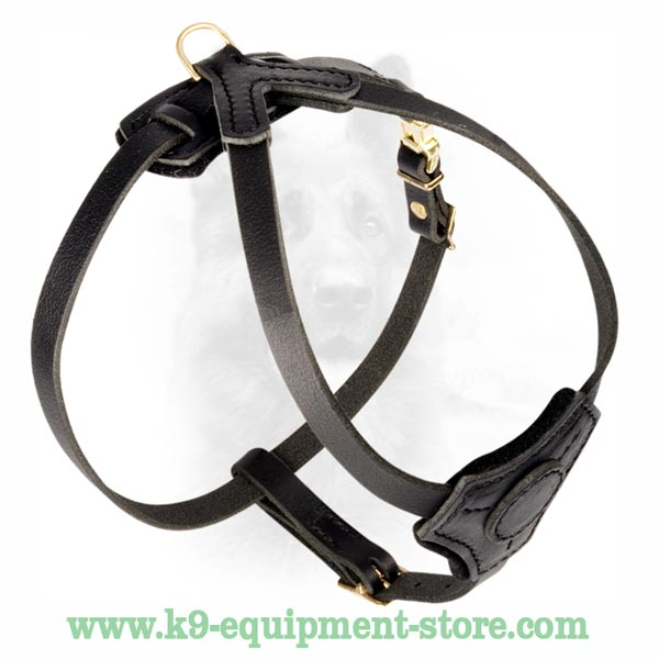 Natural Leather Time-Proof Dog Harness