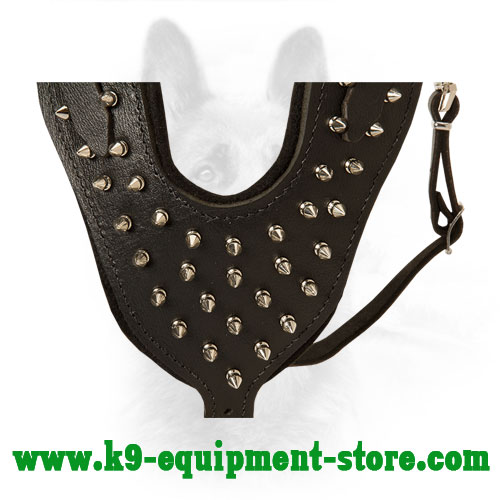 Nickel Spikes Hand Set on Chest Plate