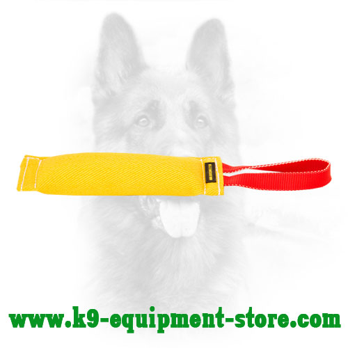 Safe and Durable French Linen Canine Bite Tug