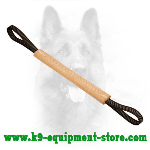 Solid Stitched Genuine Leather K9 Training Bite Tug